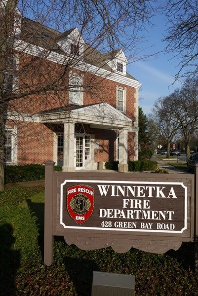 Winnetka Fire Department Sign